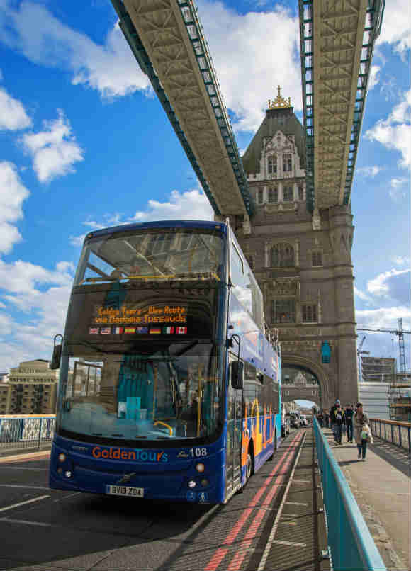 Golden Tours Hop on Hop off London Bus Tour 24 Hours