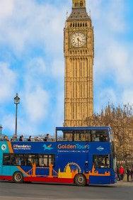 Golden Tours Hop On Hop Off London Bus Tour 72 Hours