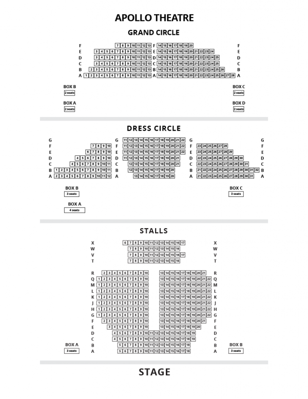 Theatre Seating Plans London Theatre Tickets