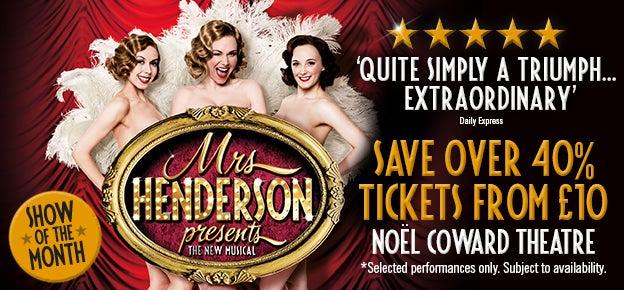 Mrs Henderson Presents Tickets