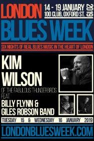 London Blues Week 2019 Present Kim Wilson