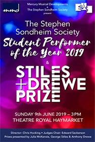 Stephen Sondheim Society Student Performer of the Year Award