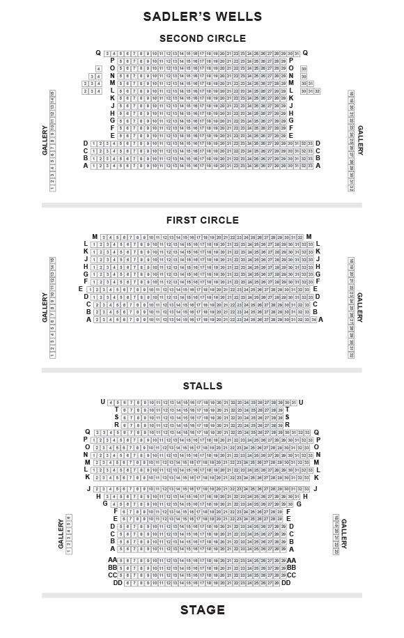 Sadler's Wells Seating Plan