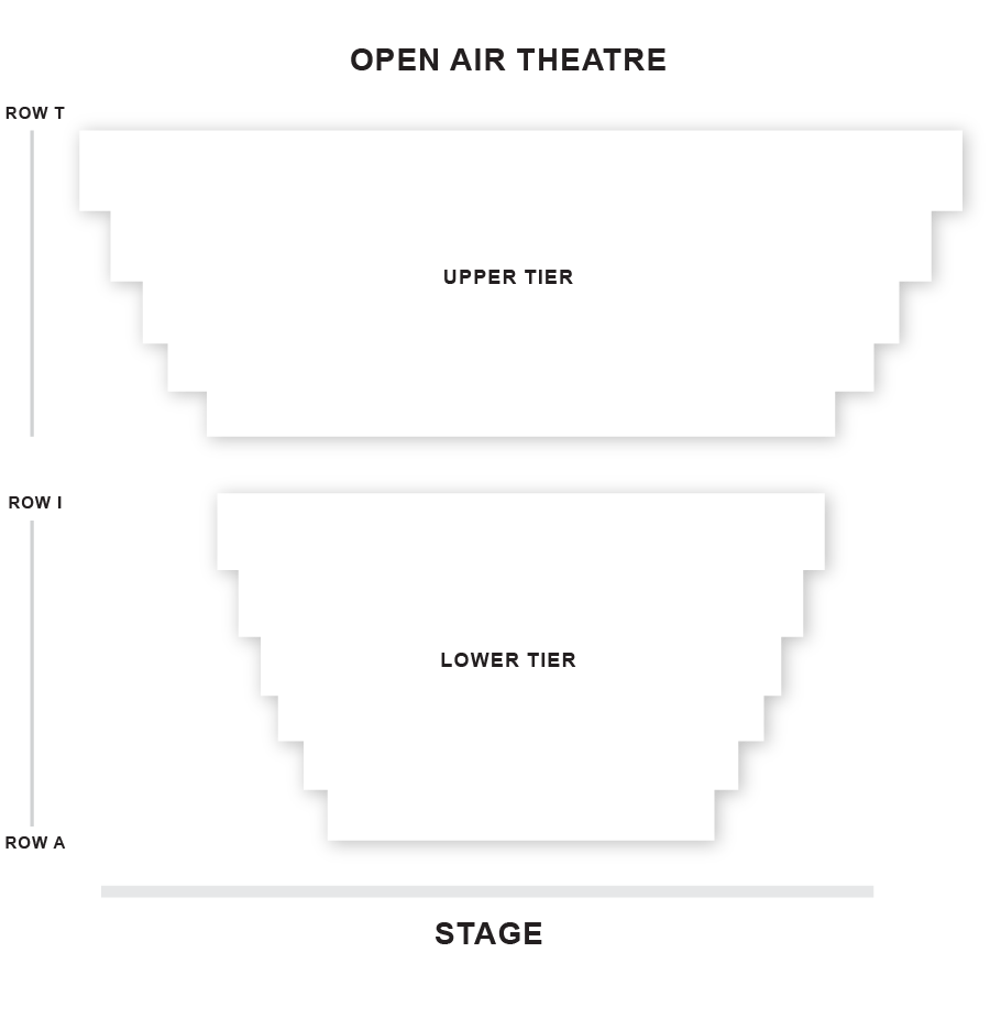 Regent's Park Open Air Theatre Seating Plan