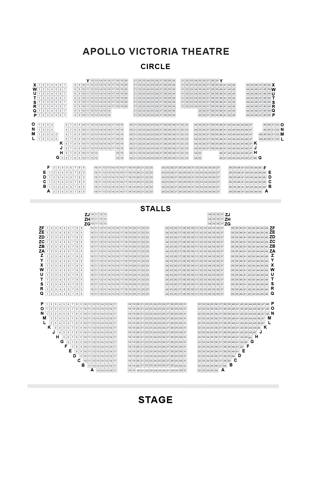 Apollo Victoria Theatre Seating Plan