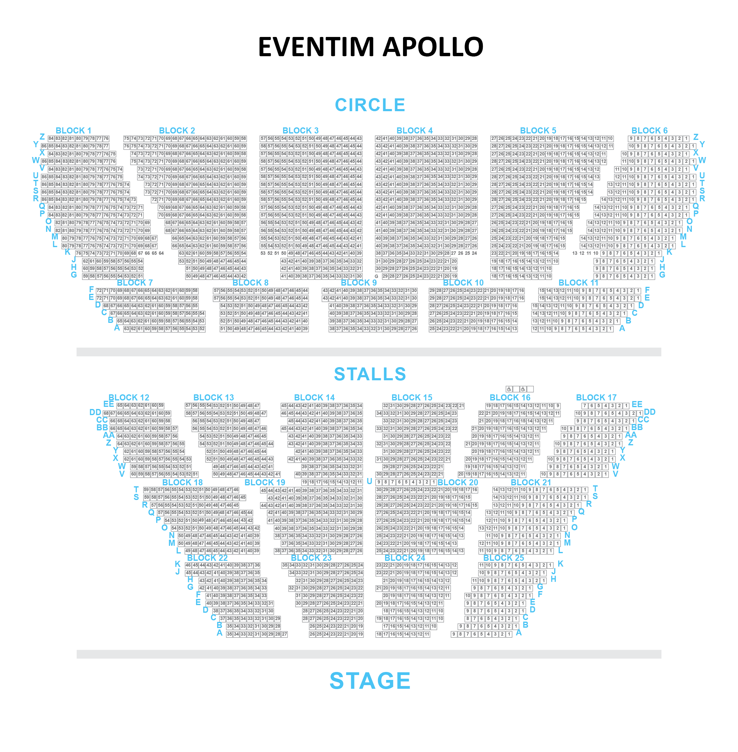 Eventim Apollo Seating Plan