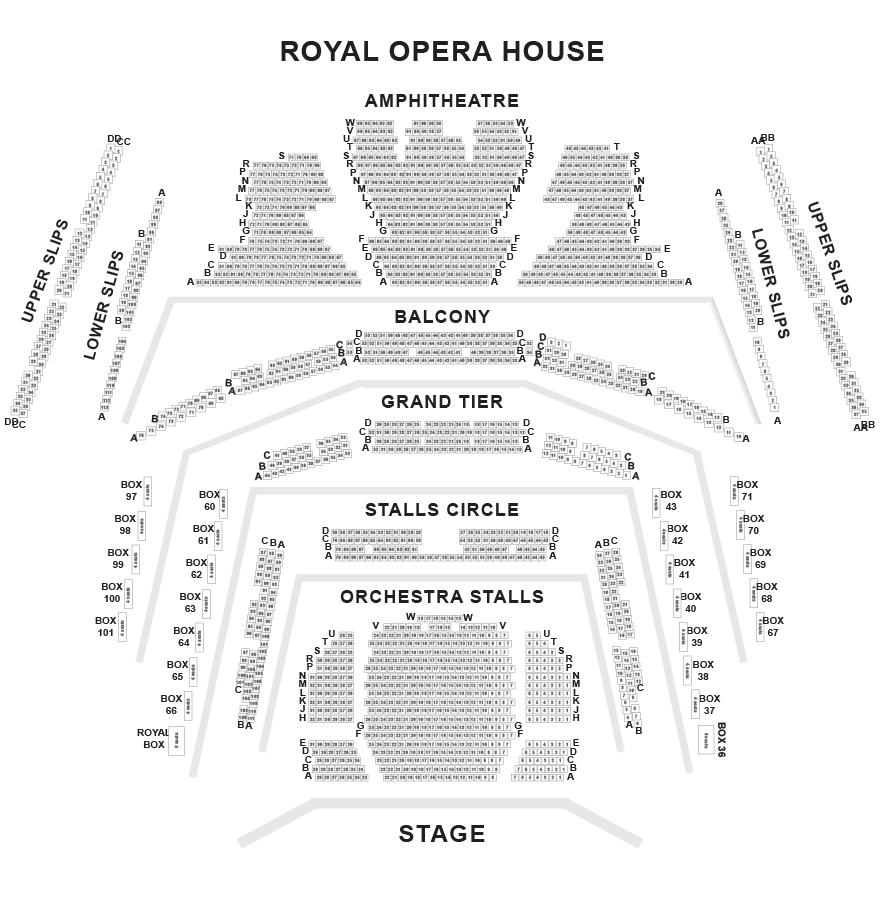 Royal Opera House Seating Plan