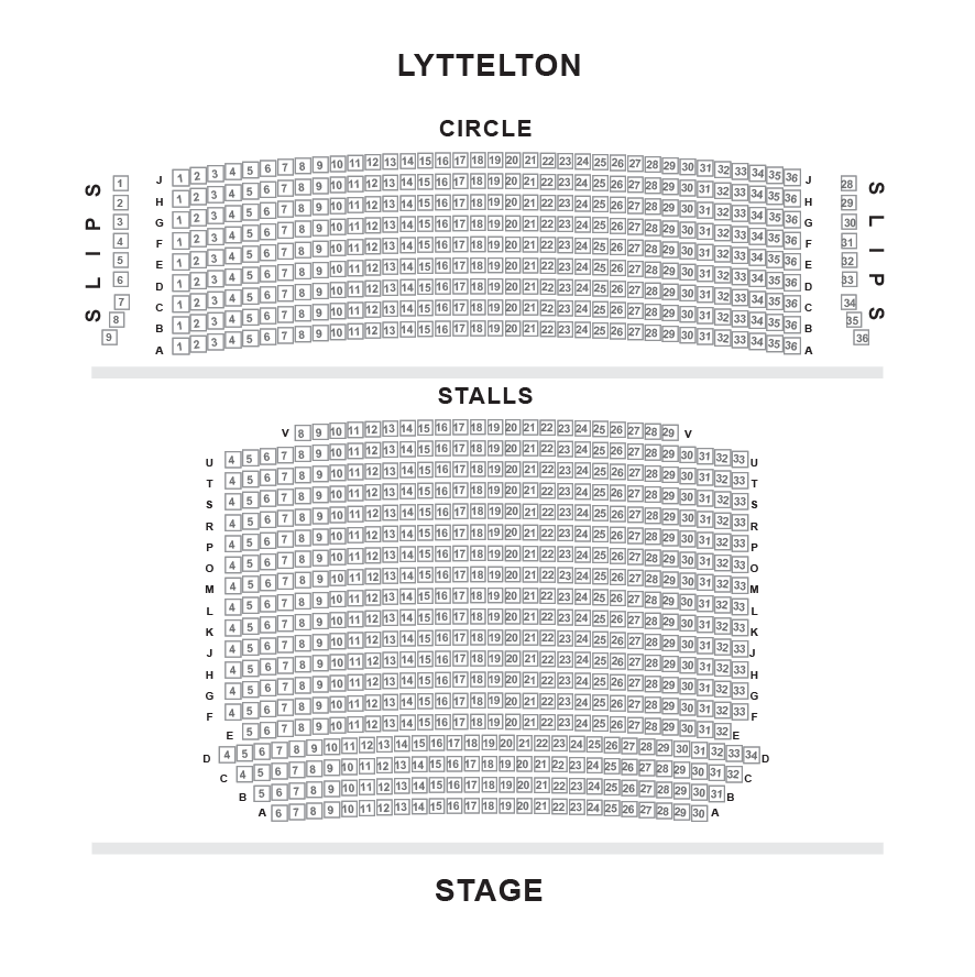 Lyttelton Theatre, National Seating Plan