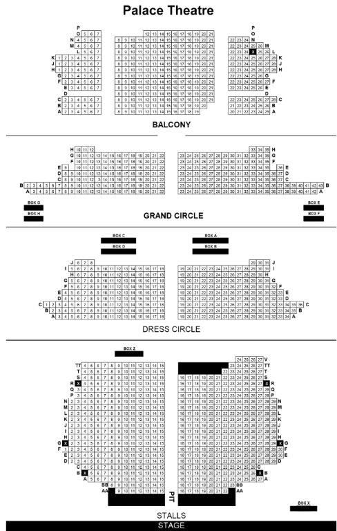 Palace Theatre Seating Plan