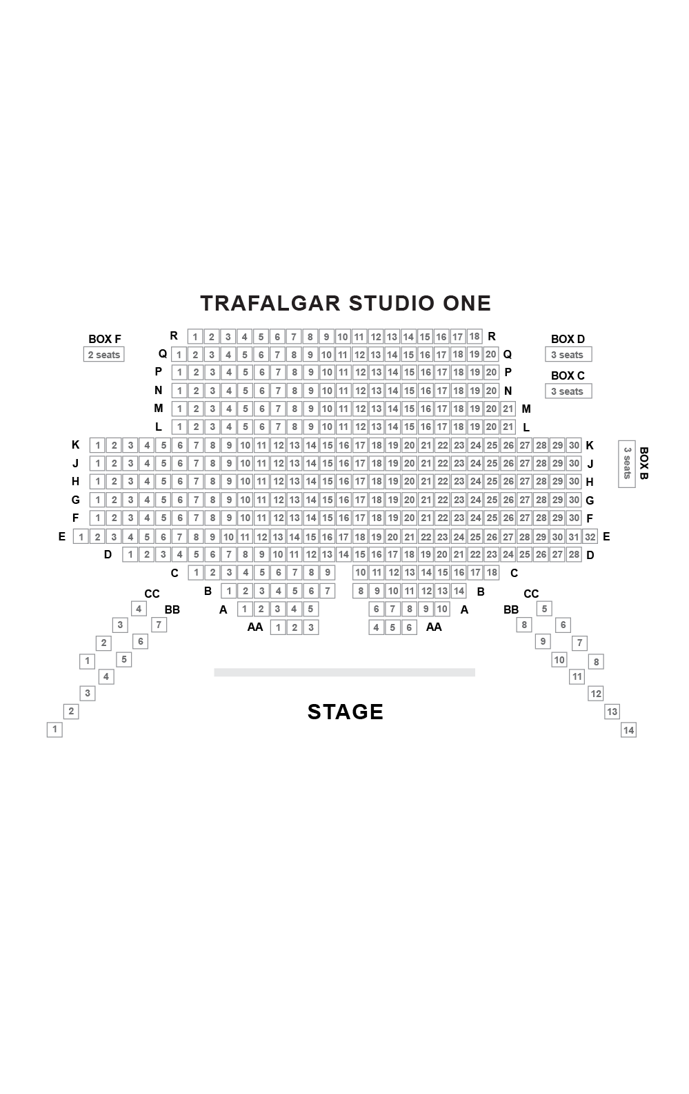 Trafalgar Studio One Seating Plan
