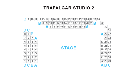 Trafalgar Studio Two Seating Plan