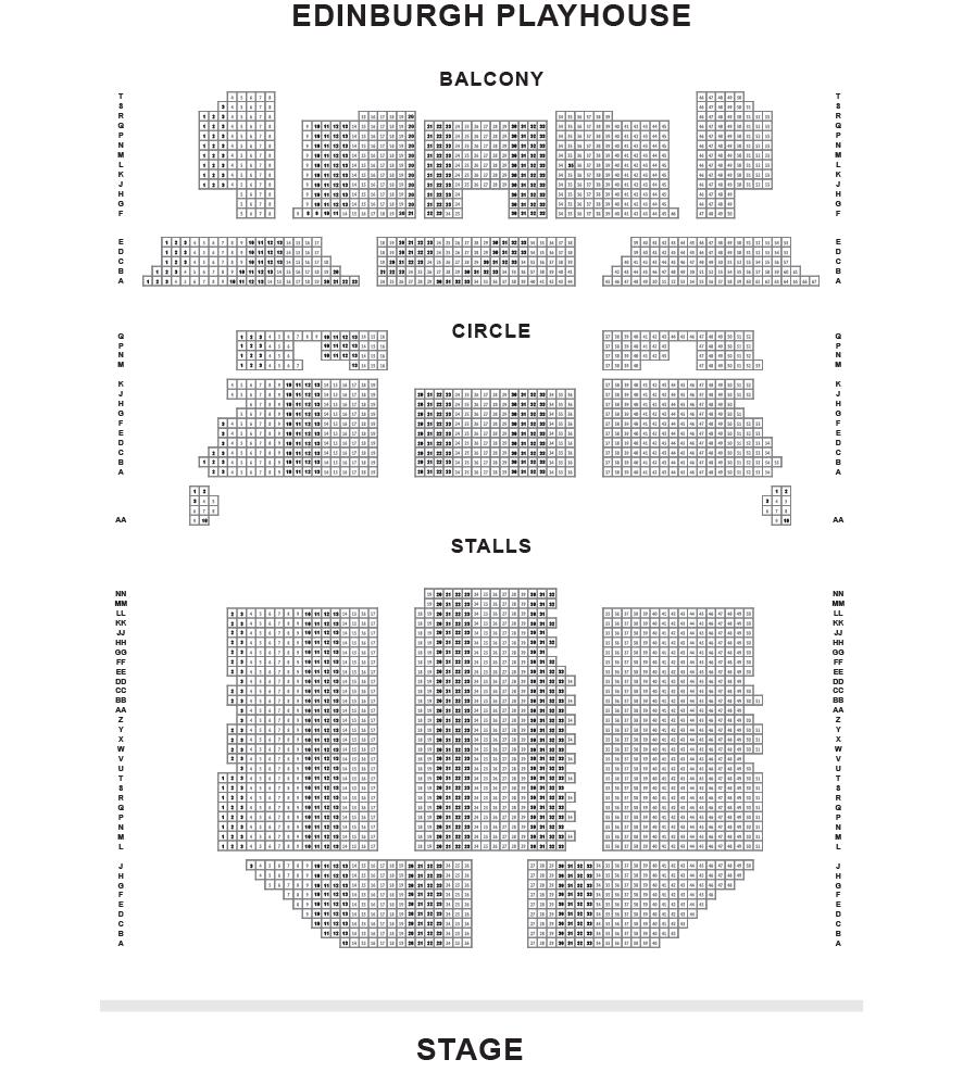 Edinburgh Playhouse Seating Plan