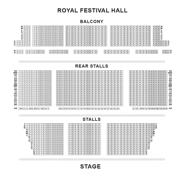 Royal Festival Hall Seating Plan