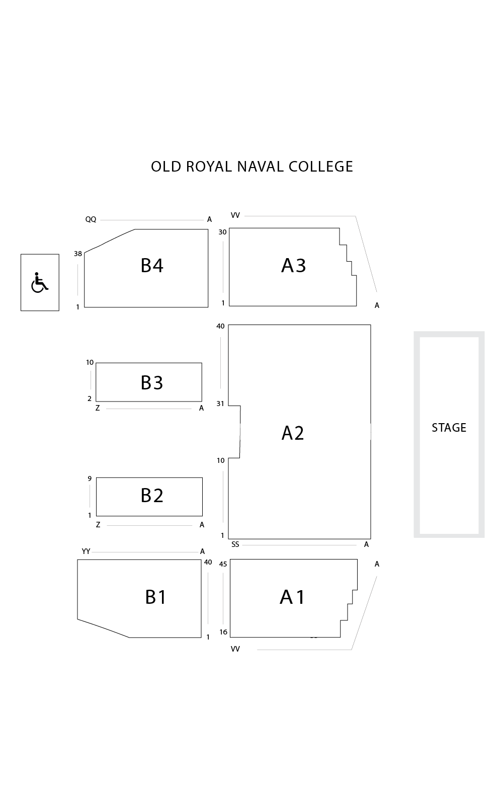 Old Royal Naval College Seating Plan