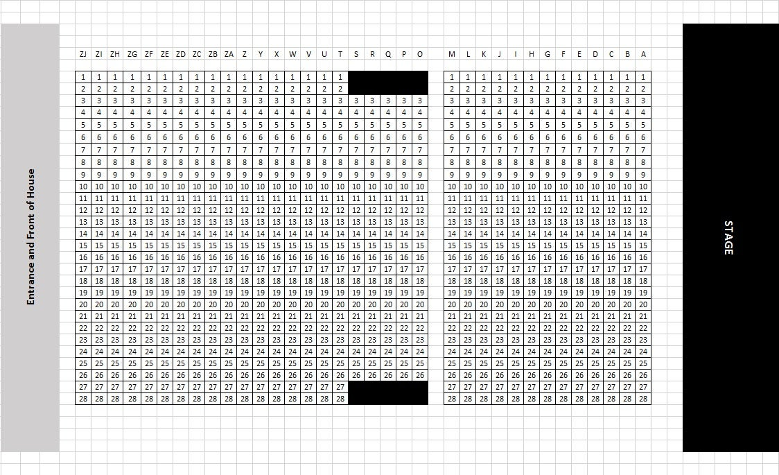 King's Cross Theatre (South Entrance). Seating Plan