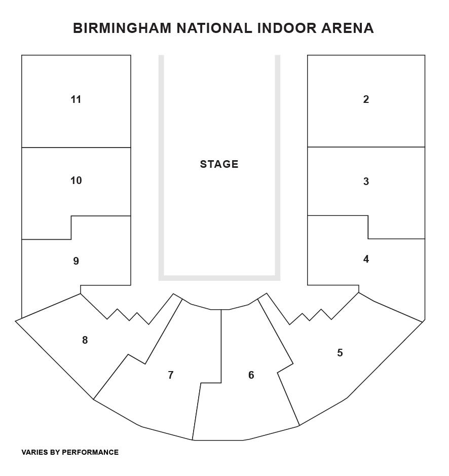 Birmingham Arena Seating Plan