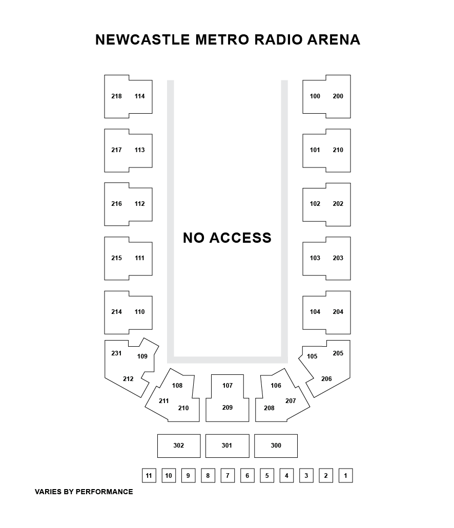 Metro Radio Arena Seating Plan