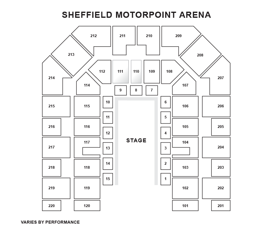 DSA Sheffield Arena Seating Plan