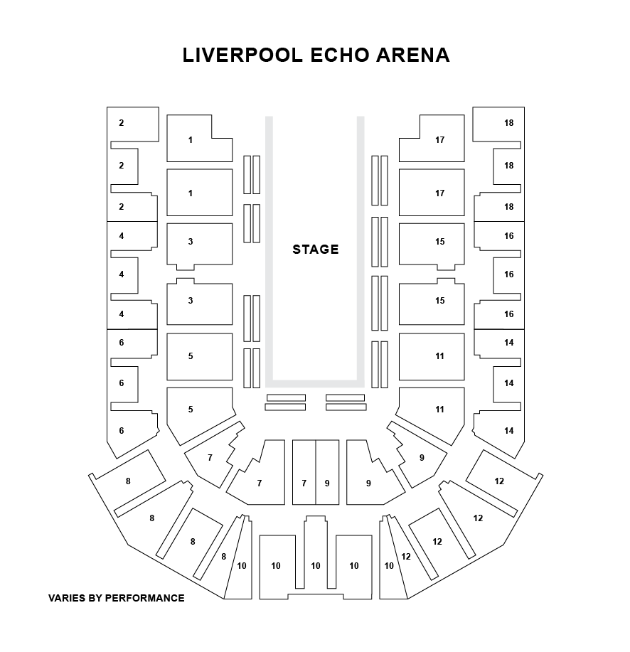 Liverpool Echo Arena Seating Plan