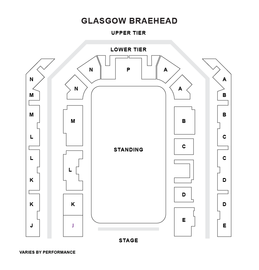 Glasgow Braehead Arena Seating Plan