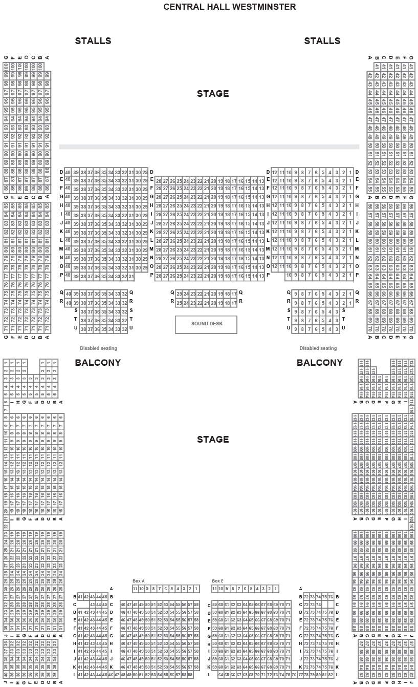 Central Hall Westminster Seating Plan