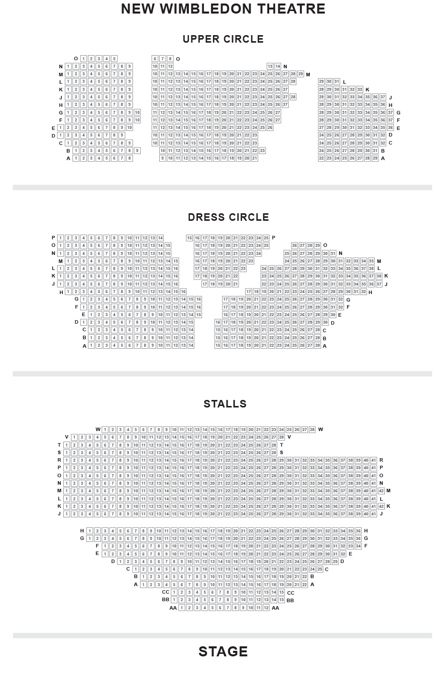 New Wimbledon Theatre Seating Plan