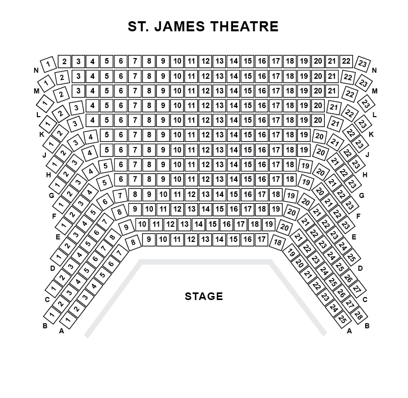 St James Theatre Seating Plan