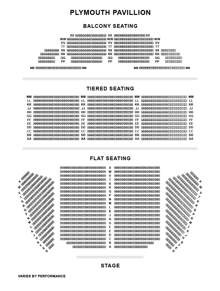 Plymouth Pavilions Seating Plan