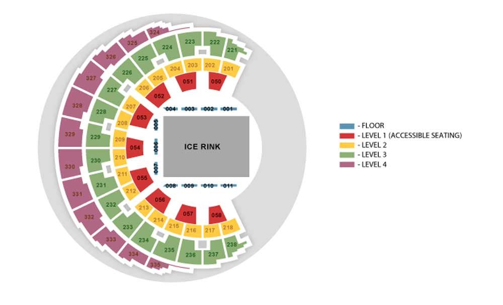SSE Hydro Seating Plan