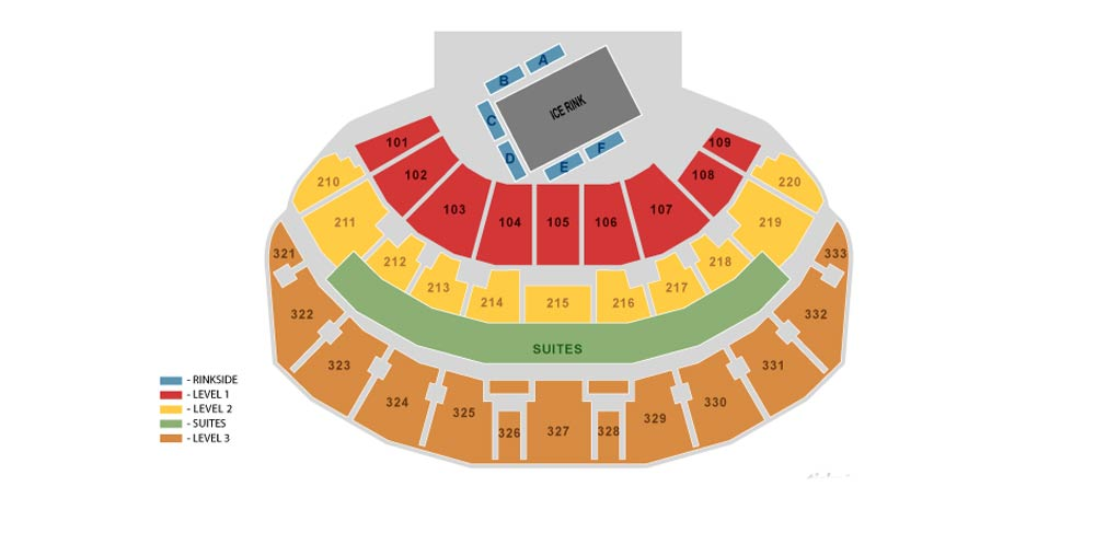 Leeds Arena Seating Plan