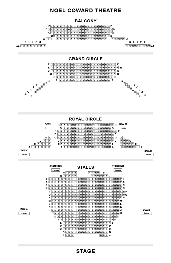 Noel Coward Seating Plan
